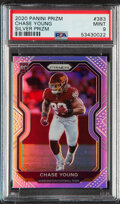 Football Cards:Singles (1970-Now), 2020 Panini Prizm Chase Young Silver Prizm #383 PSA Mint 9. ...