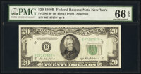 Fr. 2061-B* $20 1950B Federal Reserve Star Note. PMG Gem Uncirculated 66 EPQ