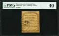 Colonial Notes:Massachusetts, Massachusetts 1779 5s 4d PMG Extremely Fine 40.. ...