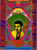 Music Memorabilia:Posters, Frank Zappa/Mothers, Alice Cooper 1969 Seattle, WA Psychedelic Concert Poster. ...