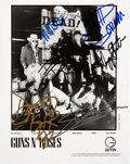 Music Memorabilia:Autographs and Signed Items, Guns N' Roses Signed Promo Photo....