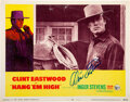 Movie/TV Memorabilia:Autographs and Signed Items, Clint Eastwood Signed Hang 'Em High Lobby Card (1968)....