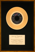 """Music Memorabilia:Awards, Al Green """"Let's Stay Together"""" In-House Gold Sales Award"""
