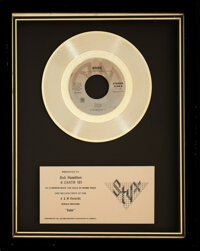 "Styx ""Babe"" In-House/Appreciation Platinum Sales Award"