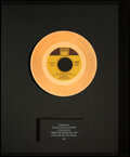 """Music Memorabilia:Awards, Marvin Gaye """"Got to Give It Up"""" In-House Gold Sales Award"""