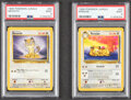 Memorabilia:Trading Cards, Pokémon Persian #42 and Meowth #56 Unlimited Jungle Set Rare Trading Cards (Wizards of the Coast, 1999) PSA MINT 9....