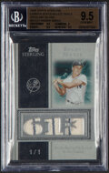 Baseball Cards:Singles (1970-Now), 2008 Topps Sterling Roger Maris Career Stats Triple Relic Sterling Silver #3CS-31 BGS Gem Mint 9.5 - Serial Numbered 1/1....