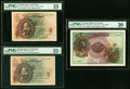Portugal Banco de Portugal Group of 3 Graded Examples