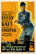 """Movie Posters:Drama, The Bowery (United Artists, 1933). Fine+ on Linen. One Sheet (27"""" X 41"""").. ..."""