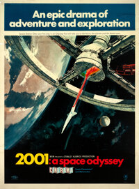 "2001: A Space Odyssey (MGM, 1968). Rolled, Fine. Double Sided Translucent Resin Cinerama One Sheet (29.5"" X 40""..."