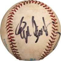 1996 Roger Clemens 20-Strikeout Game Used Baseball Signed by Clemens & Bill Haselman from The Bill Fundaro Collectio...