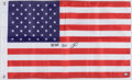 """Autographs:Others, Navy SEAL Robert O'Neil Signed American Flag - Inscribed """"Never Quit!"""" ..."""