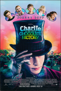 """Charlie and the Chocolate Factory (Warner Bros./Sonis, 2005). Rolled, Very Fine-. One Sheet (27"""" X 40"""") &..."""