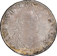 France: Louis XV Ecu 1723-& UNC Details (Stained) NGC