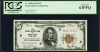 Fr. 1850-B $5 1929 Federal Reserve Bank Note. PCGS Choice New 63PPQ