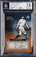 Baseball Cards:Singles (1970-Now), 2009 Topps Sterling Babe Ruth Career Chronicles Triple Relic #3CCR-3 BGS NM+ 7.5 - Serial Numbered 9/10....
