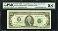 Error Notes:Offsets, Full Back to Face Offset Error Fr. 2173-B $100 1990 Federal Reserve Note. PMG Choice About Unc 58 EPQ.. ...