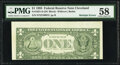 Error Notes:Miscellaneous Errors, Misaligned Back Printing Error and Gutter Fold Error Fr. 1921-D $1 1995 Federal Reserve Note. PMG Choice About Unc 58.. ...