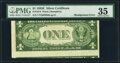 Error Notes:Miscellaneous Errors, Misaligned Back Printing Error Fr. 1614 $1 1935E Silver Certificate. PMG Choice Very Fine 35.. ...
