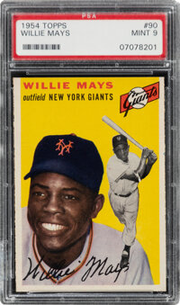 1954 Topps Willie Mays #90 PSA Mint 9 - None Higher