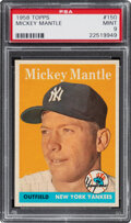 Baseball Cards:Singles (1950-1959), 1958 Topps Mickey Mantle #150 PSA Mint 9--None Superior! ...