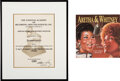 """Music Memorabilia:Awards, Whitney Houston's Grammy Nomination Certificate for """"It Isn't, It Wasn't, It Ain't Never Gonna Be"""" Single With 7"""" Single (1989..."""