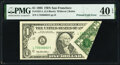 Printed Fold Error Fr. 1921-L $1 1995 Federal Reserve Note. PMG Extremely Fine 40 EPQ