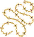 Estate Jewelry:Necklaces, Multi-Stone, Gold Necklace, Chanel, French . ...
