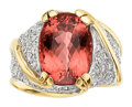 Estate Jewelry:Rings, Imperial Topaz, Diamond, Gold Ring . ...