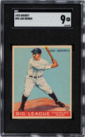 Baseball Cards:Singles (1930-1939), 1933 Goudey Lou Gehrig #92 SGC Mint 9 - Pop Three, None Higher! ...