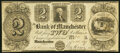Obsoletes By State:Michigan, Manchester, MI- Bank of Manchester $2 Nov. 20, 1837 Fine, CC.. ...