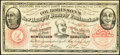 """Obsoletes By State:Mixed States, (Unknown Location)- Col. Robinson's, New Humpty Dumpty Pantomime and Specialty Company """"50"""" Advertising Note ND (ca. 1881-82..."""