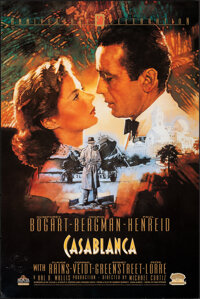 """Casablanca (MGM/UA Home Video, R-1992). Rolled, Very Fine. 50th Anniversary Video Poster (24"""" X 36"""") C. Michae..."""