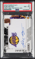 Basketball Cards:Singles (1980-Now), 2009 Panini Rookies & Stars Kobe Bryant Team Patch Signature #1 PSA NM-MT 8 - Serial Numbered 8/199. ...