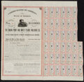 Obsoletes By State:Georgia, Augusta, Georgia- Union Point and White Plains Railroad Co. 5% First Mortgage Bond $1,000 July 1, 1889 Very Fine-Extremely...