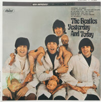 """The Beatles Yesterday and Today Third State Peeled Stereo """"Butcher Cover"""" Album Plus Trunk P"""
