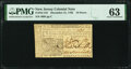 Colonial Notes:New Jersey, New Jersey December 31, 1763 18d PMG Choice Uncirculated 63.. ...