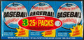 Baseball Cards:Unopened Packs/Display Boxes, 1980 Topps Baseball Unopened 25-Cents Wax Tray Pack - Rickey Henderson Rookie Year! ...