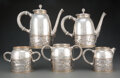 Silver & Vertu, A Five-Piece Gorham Mfg. Co. Partial Gilt Silver Tea and Coffee Set, Providence, Rhode Island, 1875. Marks: (lion-anchor-G),... (Total: 5 )