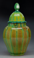 Glass, Bohemian Lithyalin Glass Covered Vase, second half of 19th century. 12-3/8 inches (31.4 cm). ...