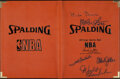 Autographs:Others, Basketball Legends Multi-Signed Folder - Johnson, Chamberl...