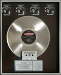 Music Memorabilia:Awards, Tears For Fears Songs from the Big Chair RIAA Flower Hologram Multi-Platinum Sales Award. ...