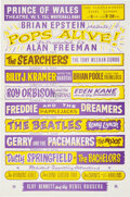 """Music Memorabilia:Posters, The Beatles 1964 London, England """"Pops Alive!"""" Marquee-Style Handbill...."""
