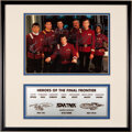 Movie/TV Memorabilia:Autographs and Signed Items, Star Trek Cast Signed Photo (1992)....