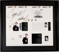 Music Memorabilia:Autographs and Signed Items, George Michael Signed Five Live CD Artwork Layout Sheet....