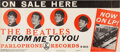 """Music Memorabilia:Posters, The Beatles 1963 U.K. """"From Me to You"""" / Please Please Me Promo Poster...."""