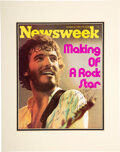 Music Memorabilia:Autographs and Signed Items, Bruce Springsteen Signed and Inscribed Color Newsweek Cover (1975). ...