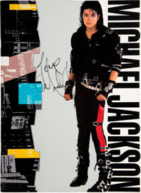 Michael Jackson Signed and Inscribed Bad Program (1988)