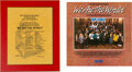 """Music Memorabilia:Awards, USA for Africa """"We Are the World"""" Plaque With Vinyl LP...."""