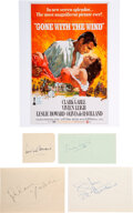 Movie/TV Memorabilia:Autographs and Signed Items, Gone With the Wind Cast Signatures....